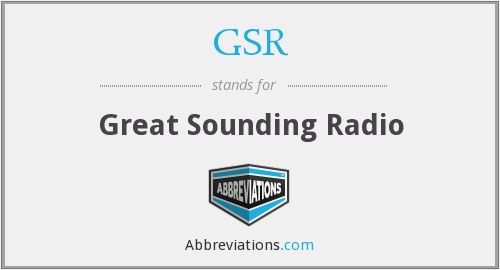 GSR - Great Sounding Radio