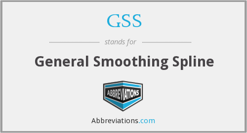 GSS - General Smoothing Spline