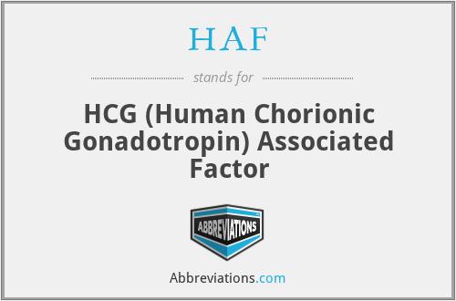 HAF - HCG (Human Chorionic Gonadotropin) Associated Factor