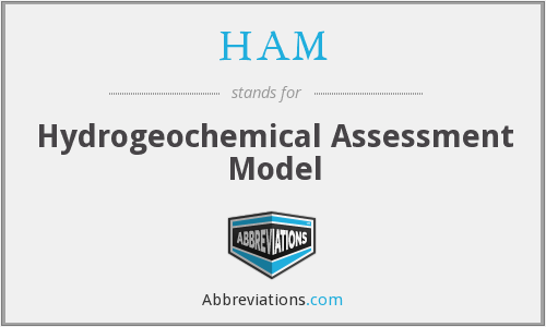 HAM - Hydrogeochemical Assessment Model