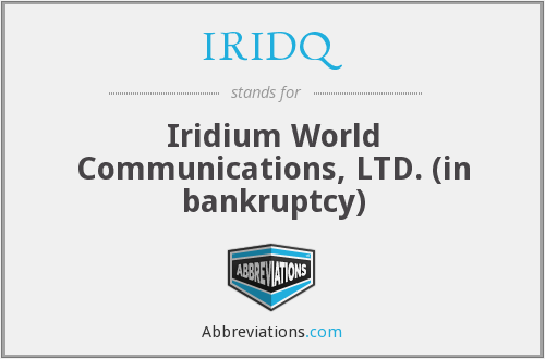 What does IRIDQ stand for?