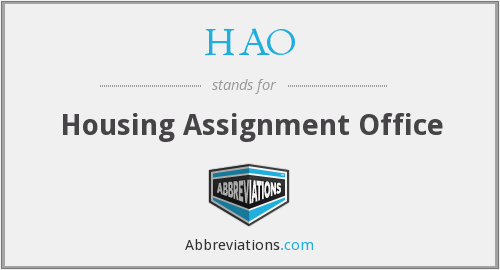 HAO - Housing Assignment Office