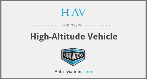 HAV - High-Altitude Vehicle
