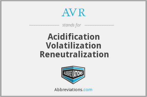 AVR - Acidification Volatilization Reneutralization