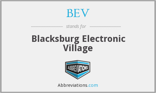 BEV - Blacksburg Electronic Village