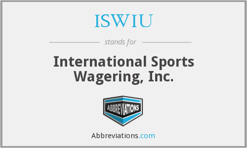 ISWIU - International Sports Wagering, Inc.