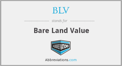 BLV - Bare Land Value