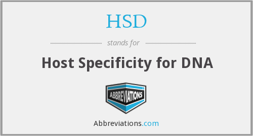 HSD - Host Specificity for DNA
