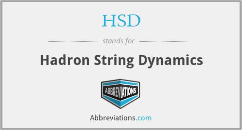 HSD - Hadron String Dynamics