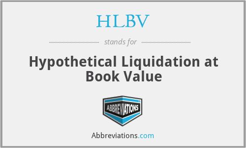 HLBV - Hypothetical Liquidation at Book Value