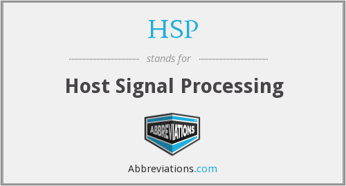HSP - Host Signal Processing