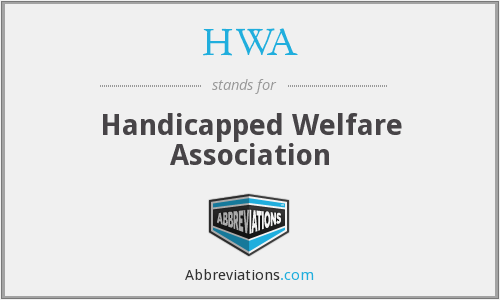 HWA - Handicapped Welfare Association