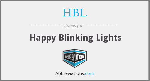HBL - Happy Blinking Lights