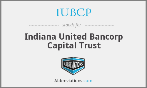 What does IUBCP stand for?