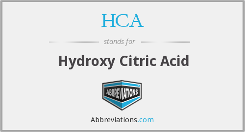 HCA - Hydroxy Citric Acid