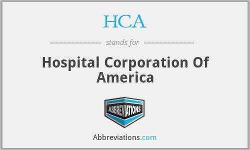 HCA - Hospital Corporation Of America