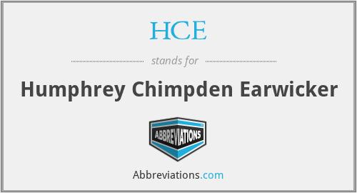 HCE - Humphrey Chimpden Earwicker