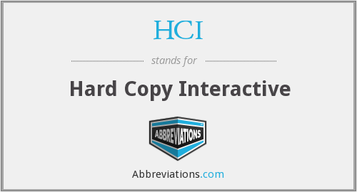 HCI - Hard Copy Interactive
