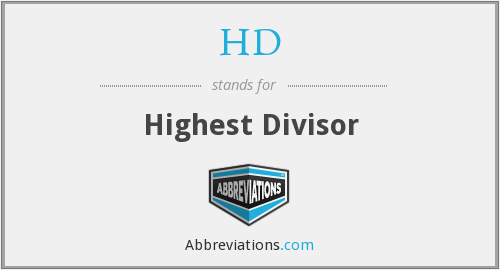 HD - Highest Divisor