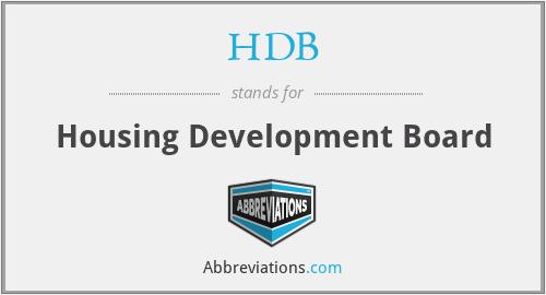 HDB - Housing Development Board