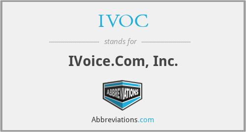 IVOC - IVoice.Com, Inc.