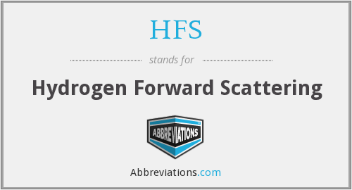 HFS - Hydrogen Forward Scattering