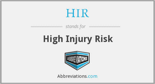 HIR - High Injury Risk