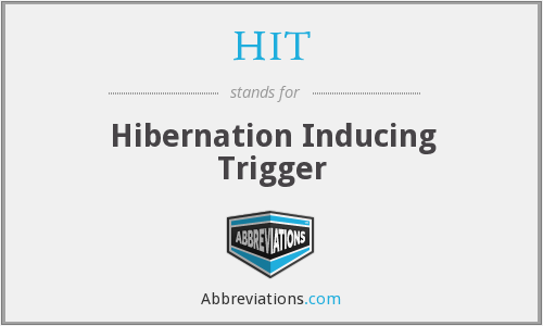 What does hibernation stand for?