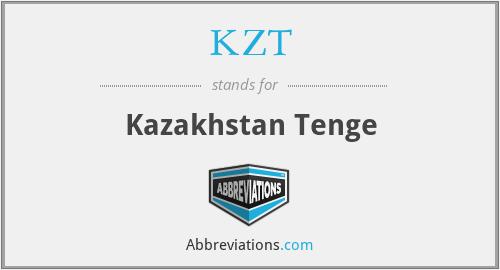 KZT - Kazakhstan Tenge