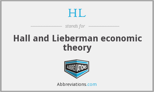 HL - Hall and Lieberman economic theory
