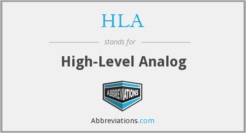 HLA - High-Level Analog