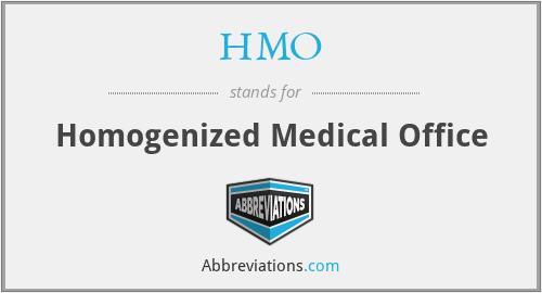 HMO - Homogenized Medical Office