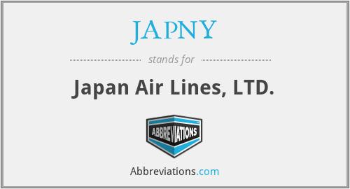 JAPNY - Japan Air Lines, LTD.