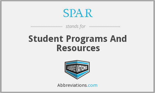 SPAR - Student Programs And Resources