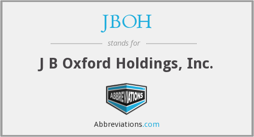 What does JBOH stand for?