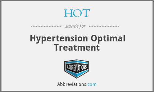 HOT - Hypertension Optimal Treatment