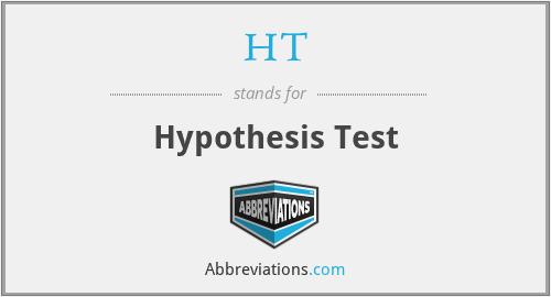 HT - Hypothesis Test