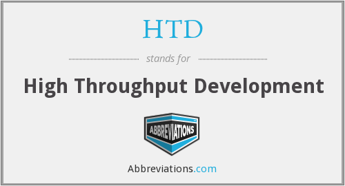 HTD - High Throughput Development