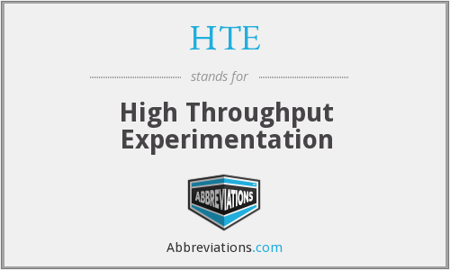 HTE - High Throughput Experimentation