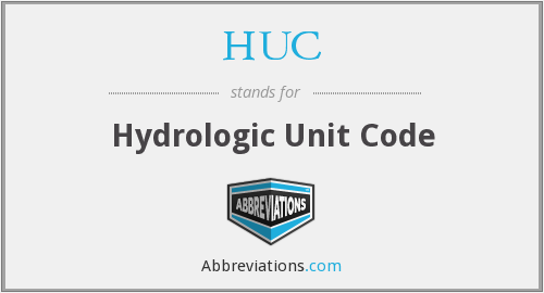 What does HUC stand for?