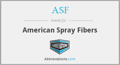 ASF - American Spray Fibers