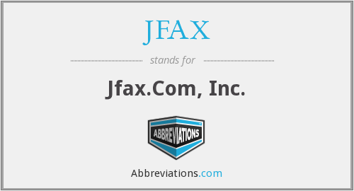 What does JFAX stand for?