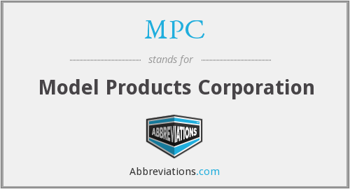 MPC - Model Products Corporation