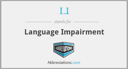 LI - Language Impairment