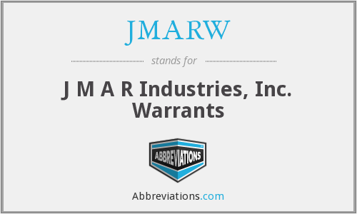What does JMARW stand for?