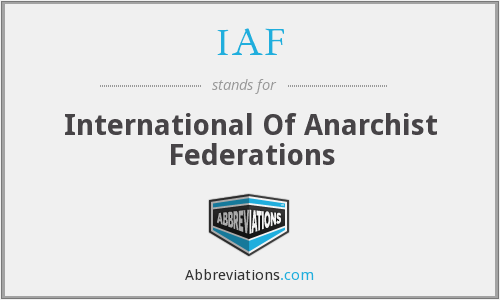 IAF - International Of Anarchist Federations