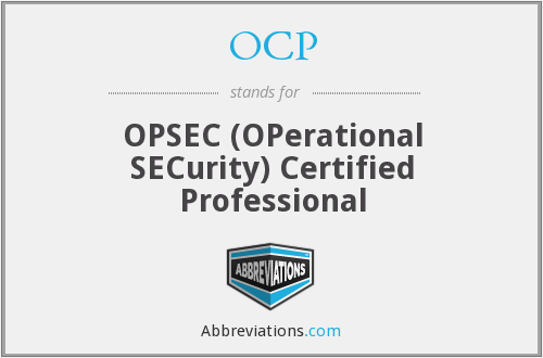 OCP - OPSEC (OPerational SECurity) Certified Professional