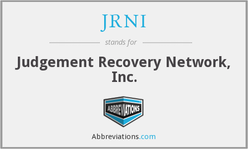 JRNI - Judgement Recovery Network, Inc.