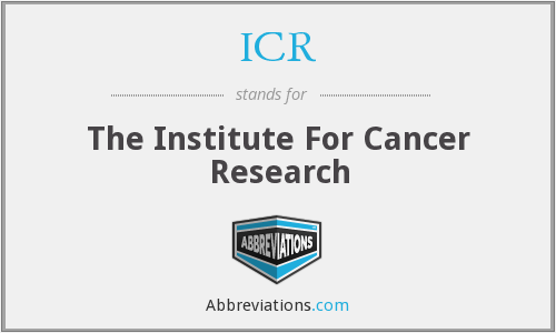 ICR - The Institute For Cancer Research