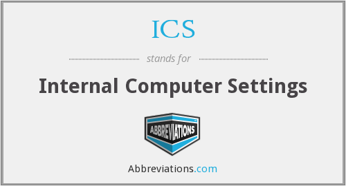 ICS - Internal Computer Settings